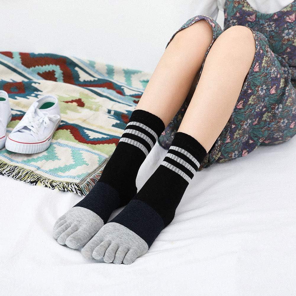 4//5 paires Femme Chaussette Doigt de Pied Chaussette /à Doigts Femme Chaussettes Orteils S/épar/és de Sport en Coton doux et respirant