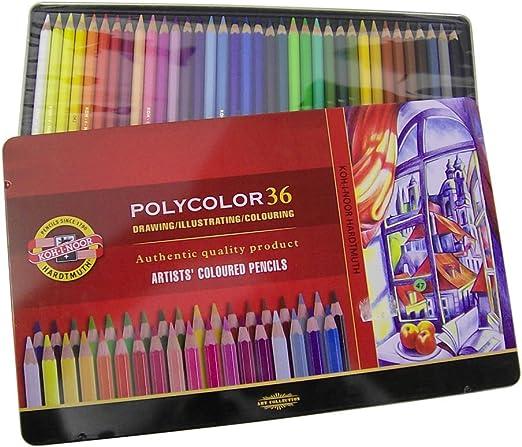 36 Polycolor - lápices de colores/rotuladores en caja de metal: Amazon.es: Juguetes y juegos