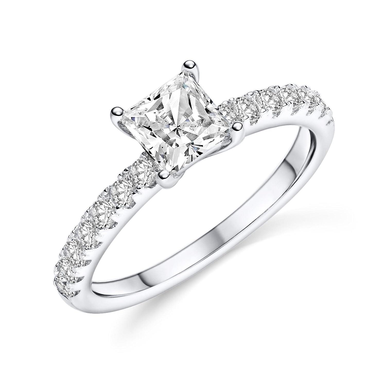 NEU Damen Ring klassisch schmal 925 echt Sterling Silber rosegold Zirkonia