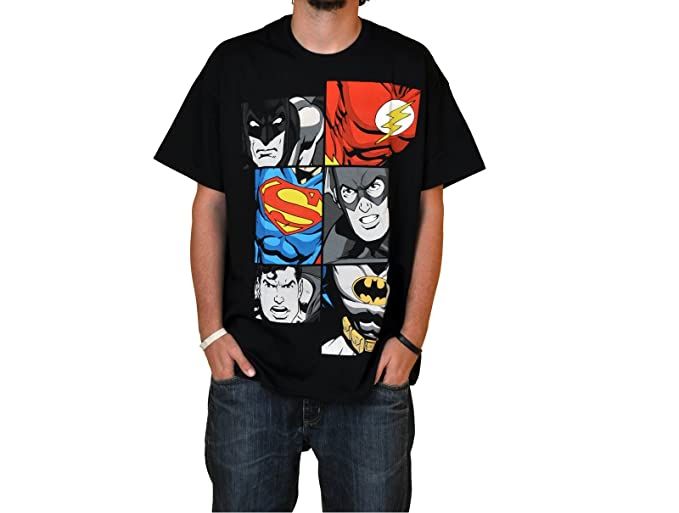 Superhéroes - Camiseta Liga de la Justicia - Batman, Superman & Flash - XXL