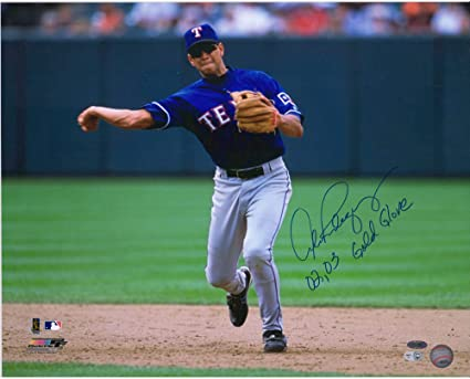 Alex Rodriguez Texas Rangers Autographed 16 X 20 Throwing Photograph With 02 03 Gold Glove Inscription Autographed Mlb Photos At Amazon S Sports Collectibles Store