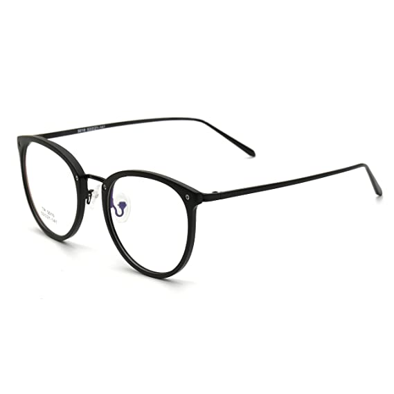 a041e41c85 Simvey Vintage Inspired Eyeglasses Frame Oversized Round Circle Clear Lens  Glasses Black