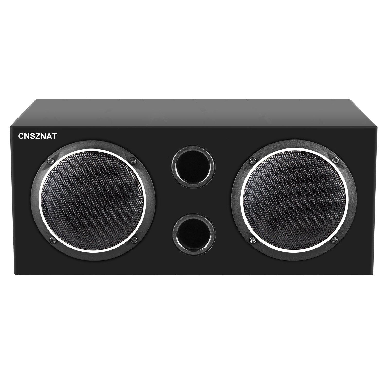 CNSZNAT P410 Center Channel Speaker, 4 Inch Hifi Speaker With Full Range Speaker (Black,Single) by CNSZNAT