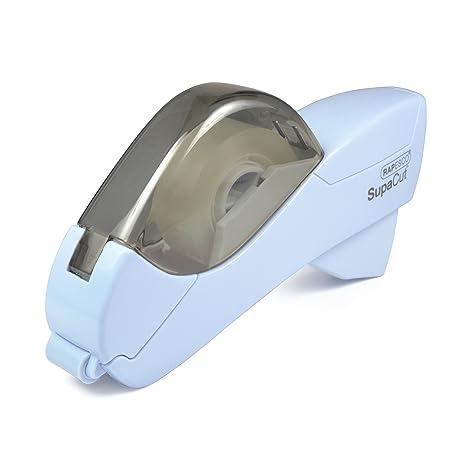 Rapesco SupaCut - Dispensador de cinta adhesiva + 2 rollos, color azul
