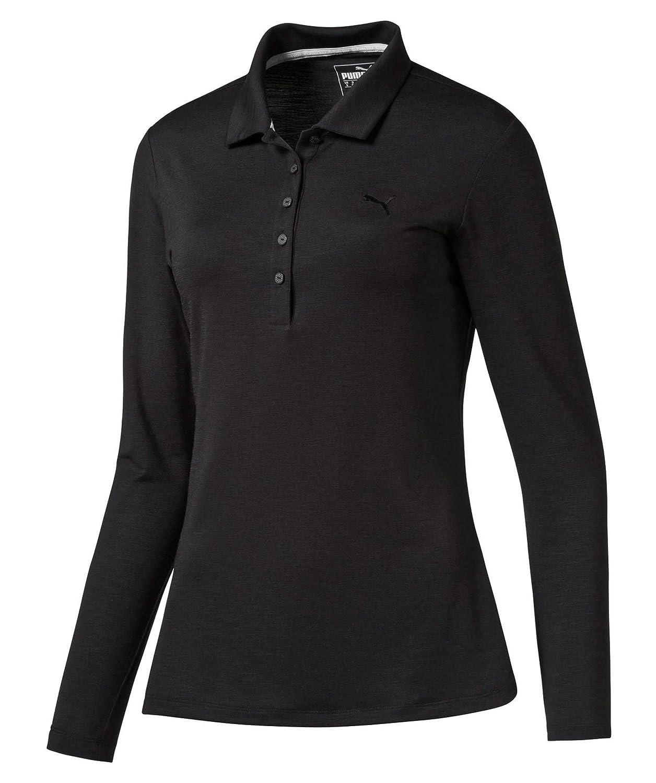 Puma Mujer Golf Camisa/Polo Manga Larga, Mujer, Color Negro ...