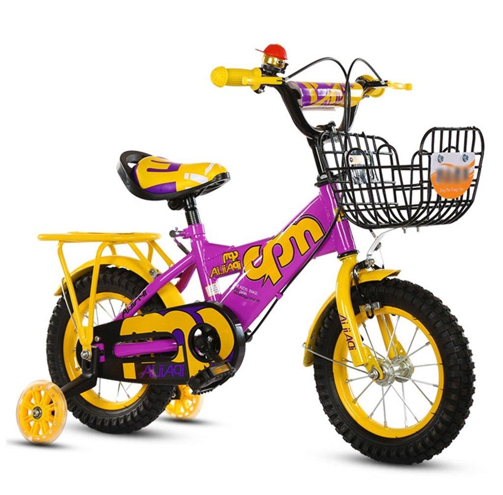 【返品送料無料】 子供の自転車12|14|16|18インチアウトドアの子供ベイビーキッドマウンテンバイクフラッシュトレーニングホイールで2歳から10歳の男の子の女の子の贈り物|アイアンバスケット|バックシート調節可能セーフロード100KGパープル B078GRH32B 12インチ 12インチ B078GRH32B, メンズスーツ UNITED GOLD:33a50ec3 --- greaterbayx.co