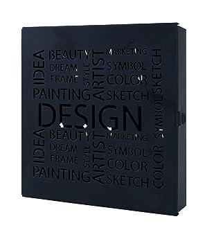 Haku Möbel 44525 Caja Llavero Acero Negro 5 x 22 x 24 cm