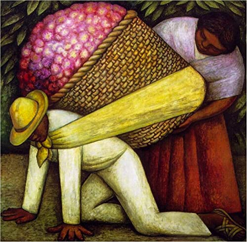 Diego Rivera Paintings Flower Carrier