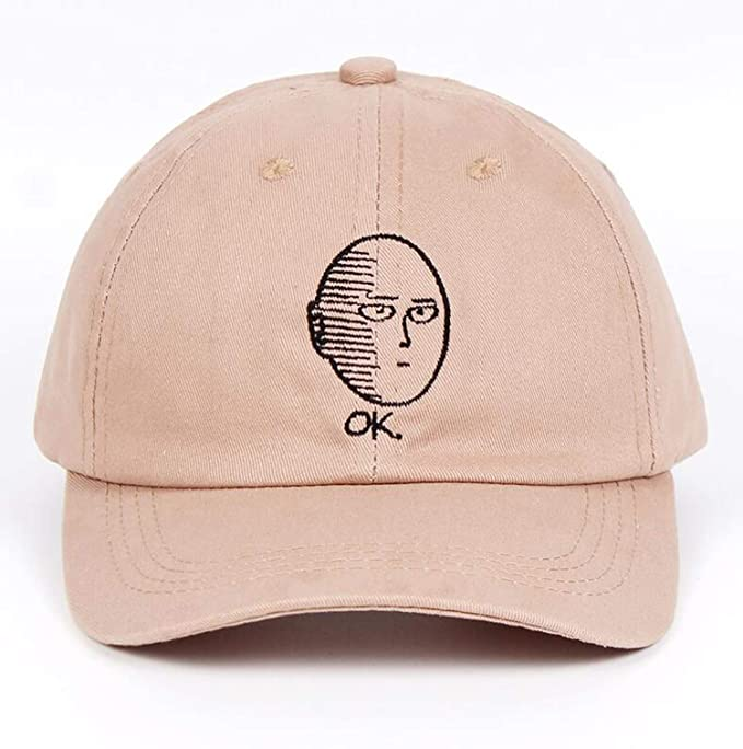 Dad Hat 100% Cotton Baseball Cap Anime Fan Embroidery Funny Hats for Women  Men ok Man One Punch Man Khaki at Amazon Women s Clothing store  2191a99a356b