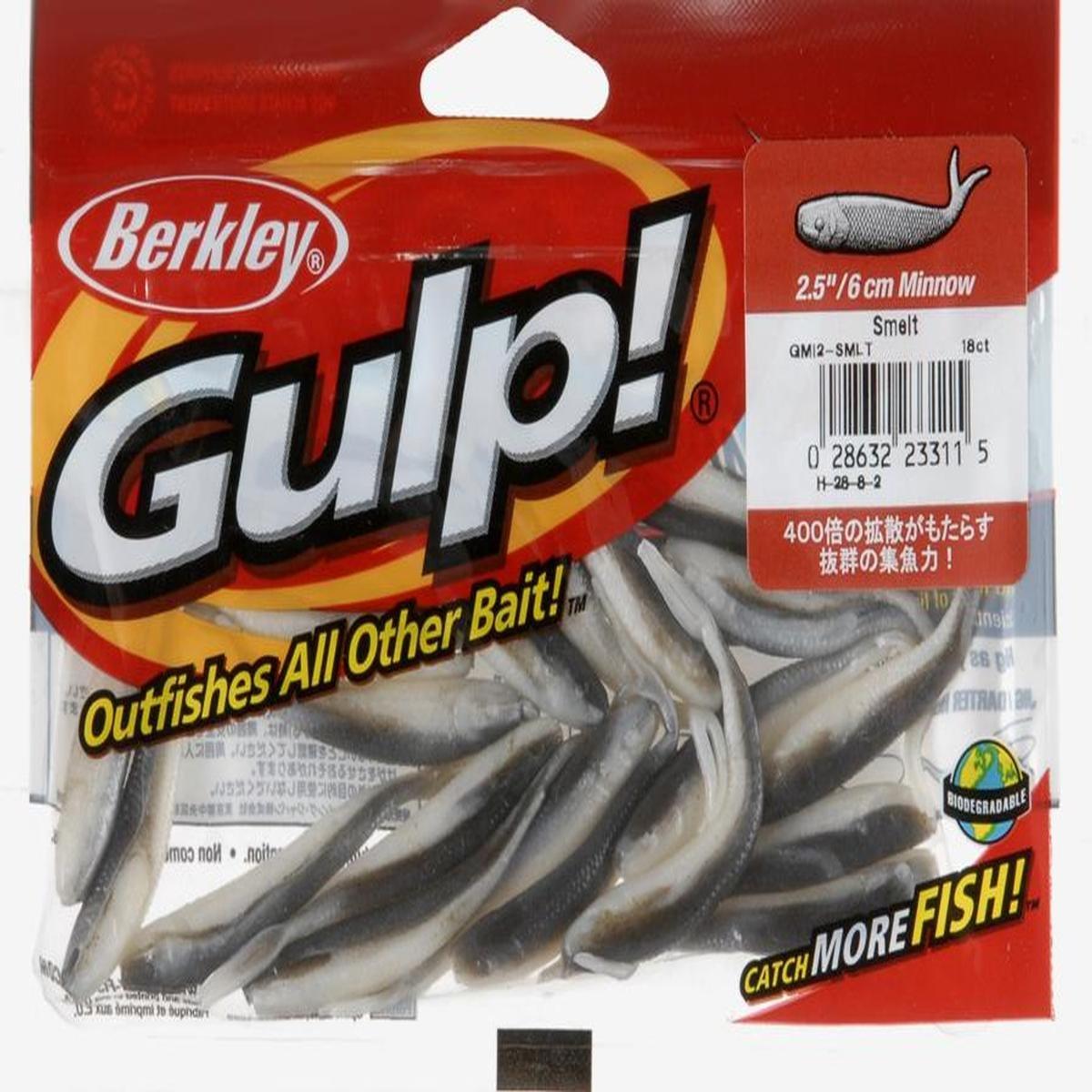 18 - Pk. Berkley Gulp! 2 1/2 pollici Pesciolini, Chartreuse Shad GMI2-CS