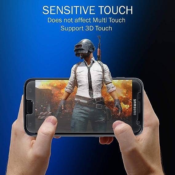 Protector de pantalla iSOUL de cristal templado prémium para Galaxy S7, dureza de 9H e instalación sin burbujas, compatible con pantallas táctiles: Amazon.es: Electrónica