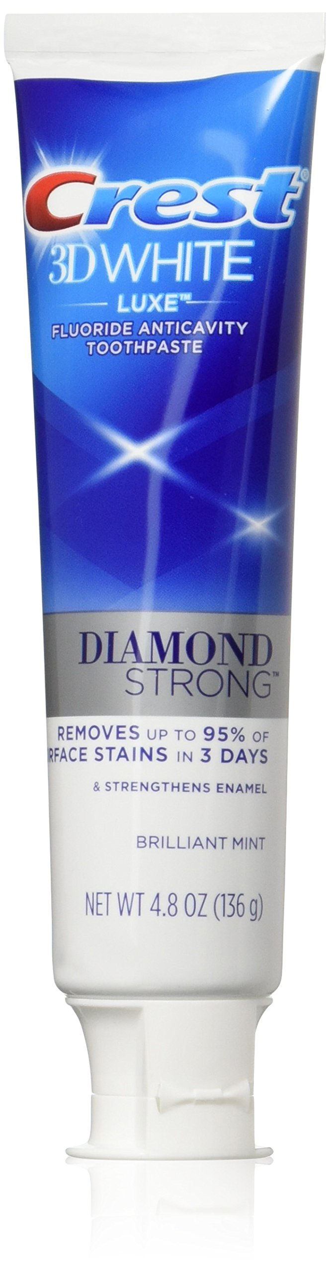 Crest 3D White Luxe Diamond Strong Toothpaste, 4.8 Ounce (Pack of 24)