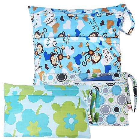 Para bebés de viaje KF de tela impermeable y bolsa de pañales de neopreno para secar
