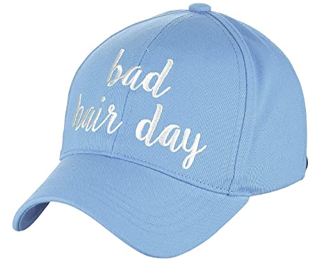 C.C Bad Hair Day Light Blue C. C WomenS Embroidered Quote Adjustable Cotton  Baseb 841efbb24b