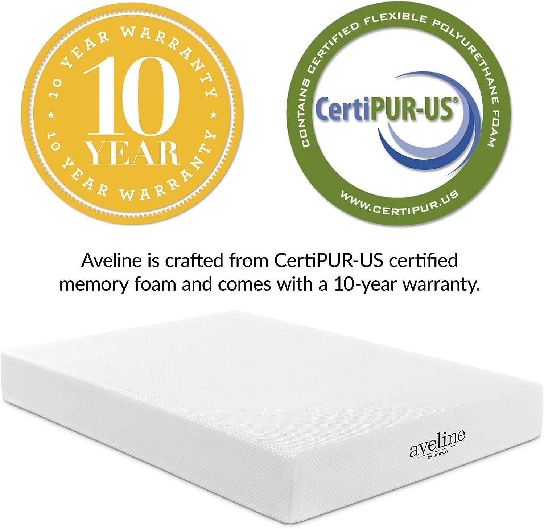 10-Year Warranty Modway Aveline 10 Gel Infused Memory Foam California King Mattress With CertiPUR-US Certified Foam