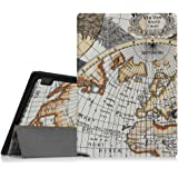 Fintie Lenovo A10-70 SlimShell Hülle Case Tasche Etui - Ultradünne Superleicht Ständer Schutzhülle Cover für Lenovo IdeaTab A10-70 25,7 cm (10,1 Zoll) Tablet, Landkarte Design
