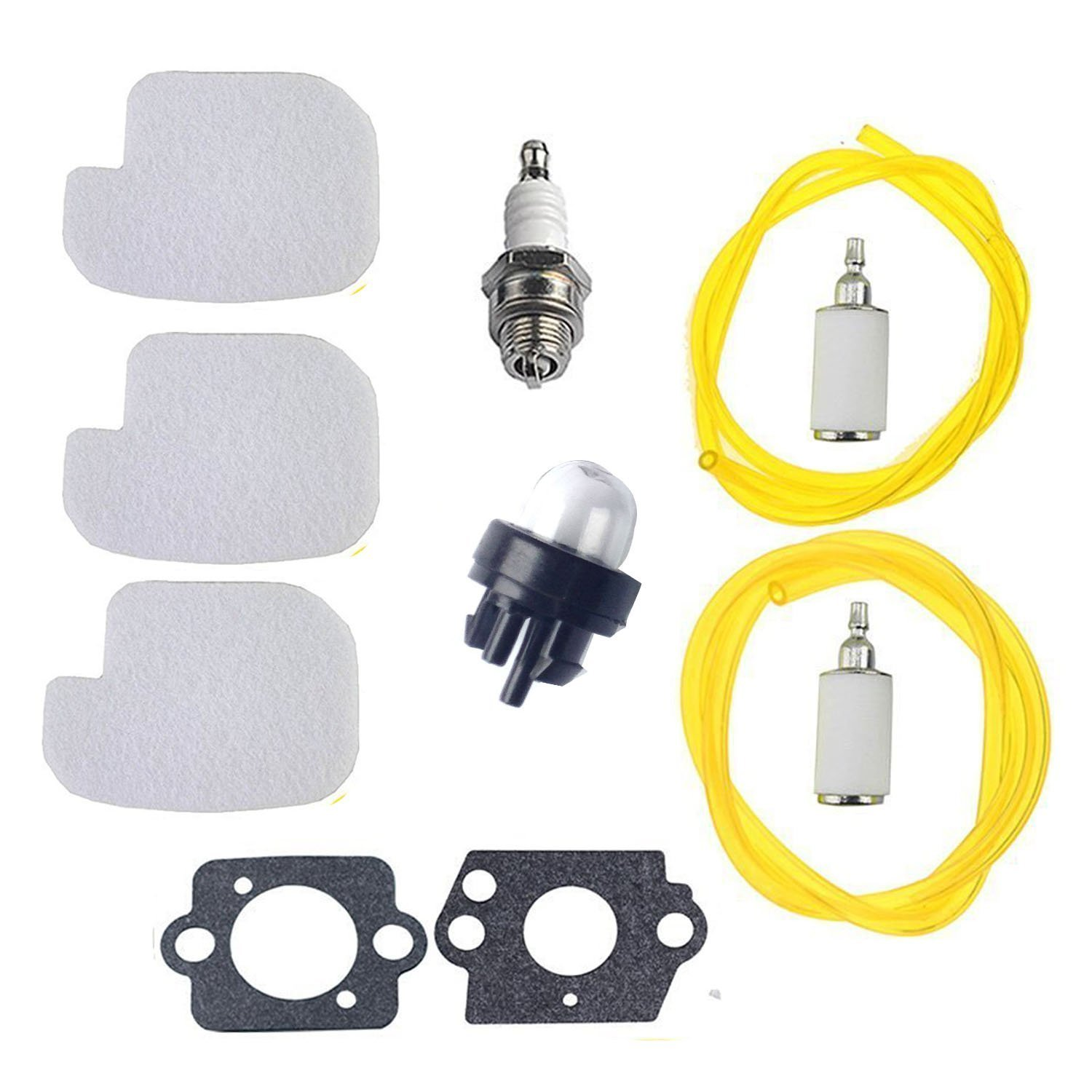 Podoy Chainsaw Parts For Poulan 530095646 530069247 Air Fuel Filter With Line Spark Plug Gasket