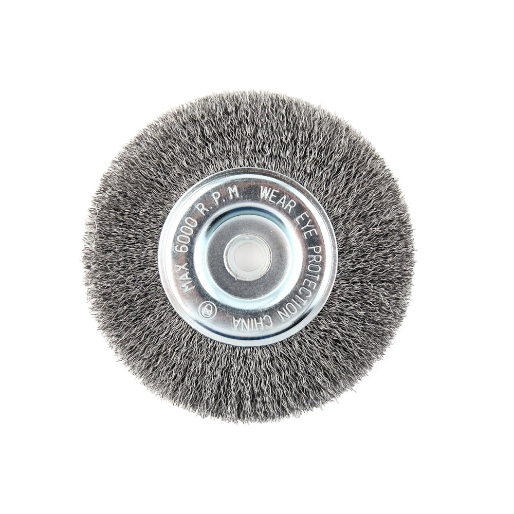 Lincoln Electric KH320 Crimped Wire Wheel Brush, 6000 rpm, 6' Diameter x 1/2' Face Width, 5/8' x 1/2' Arbor (Pack of 1) 6 Diameter x 1/2 Face Width 5/8 x 1/2 Arbor (Pack of 1) The Lincoln Electric Company