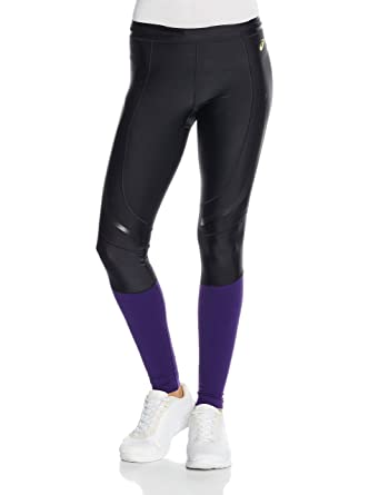 4650347cc460 Asics Women s Trousers Black Black Purple Medium  Amazon.co.uk  Clothing