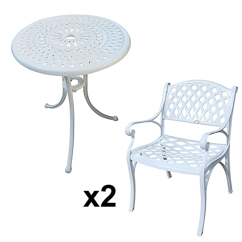 Lazy Susan EVE 60 Cm Bistrotisch Mit 2 Stühlen Rundes