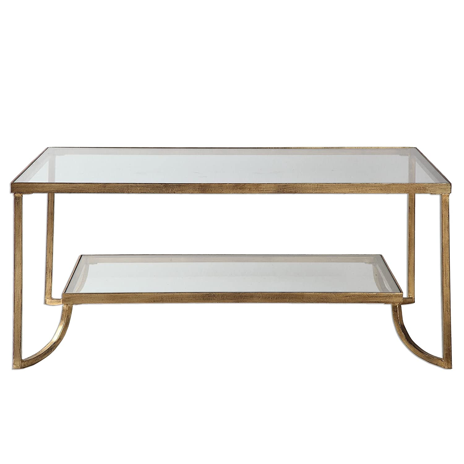 Amazon Katina Gold Leaf Coffee Table Kitchen Dining