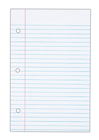 Amazon.com: TOPS Notebook Filler Paper, College Ruled, 8.5 x 5.5 ...