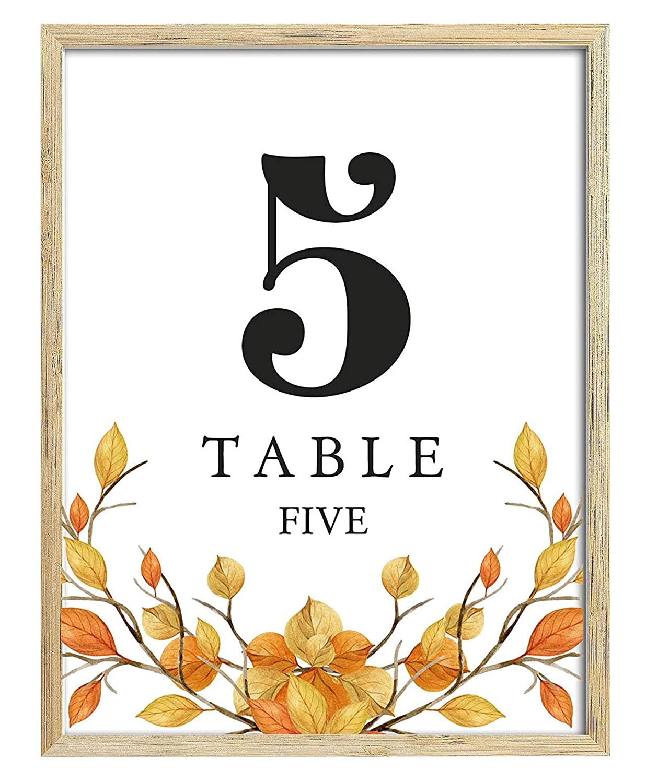 Darling Souvenir, Herbst Thema 1-20 Tisch Zahlen Herbst Hochzeit Empfang Dekor Tischkarten (4x6 Zoll)