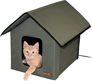Amazon.com : K&H Pet Products 3993 Outdoor Kitty House, 18 x ...