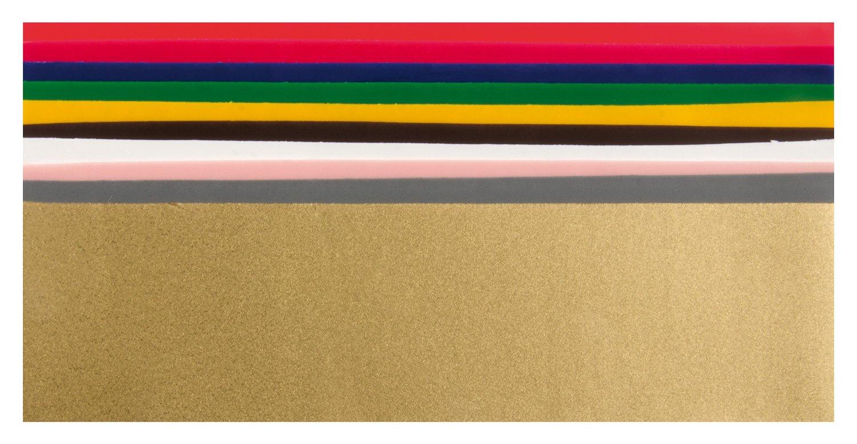 GLOREX 68616001Wachsplatten Plaques Couleurs de base, jeu, 200x 50, 100mm, 10pièces, assortis 6 8616 001