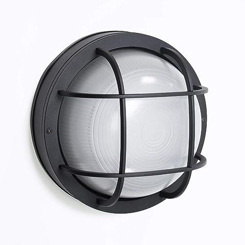 CORAMDEO Outdoor 10 Round LED Nautical Bulkhead Light