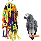 RYPET Large and Small Parrot Chewing Toys - Parrot Cage Bite Toys Wooden Block Tearing Toys for Conures Cockatiels African Gr
