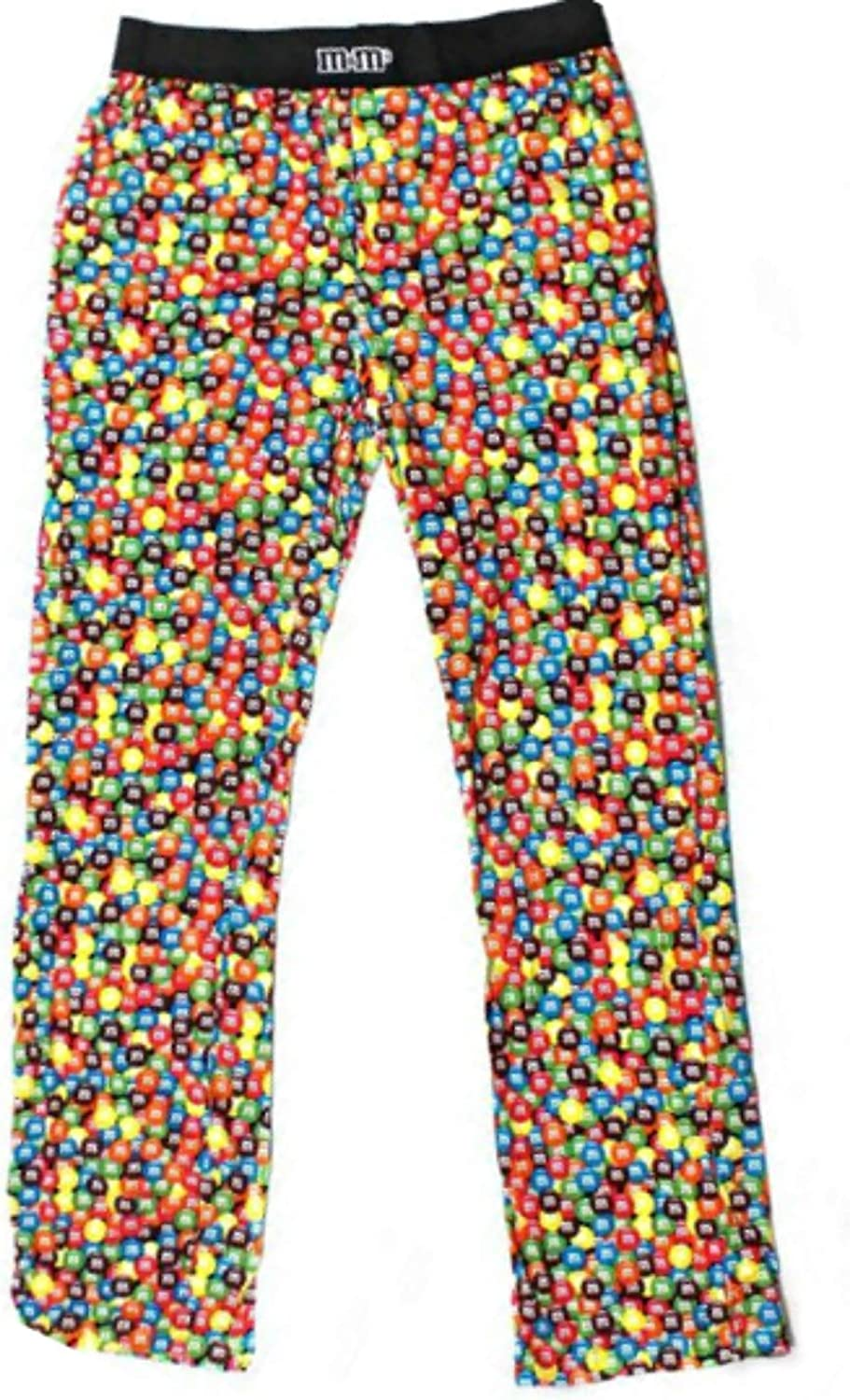 Candy Colorful Print Men's Pajama Lounge Sleep Bottoms Pants M and M PJ at  Amazon Men's Clothing store