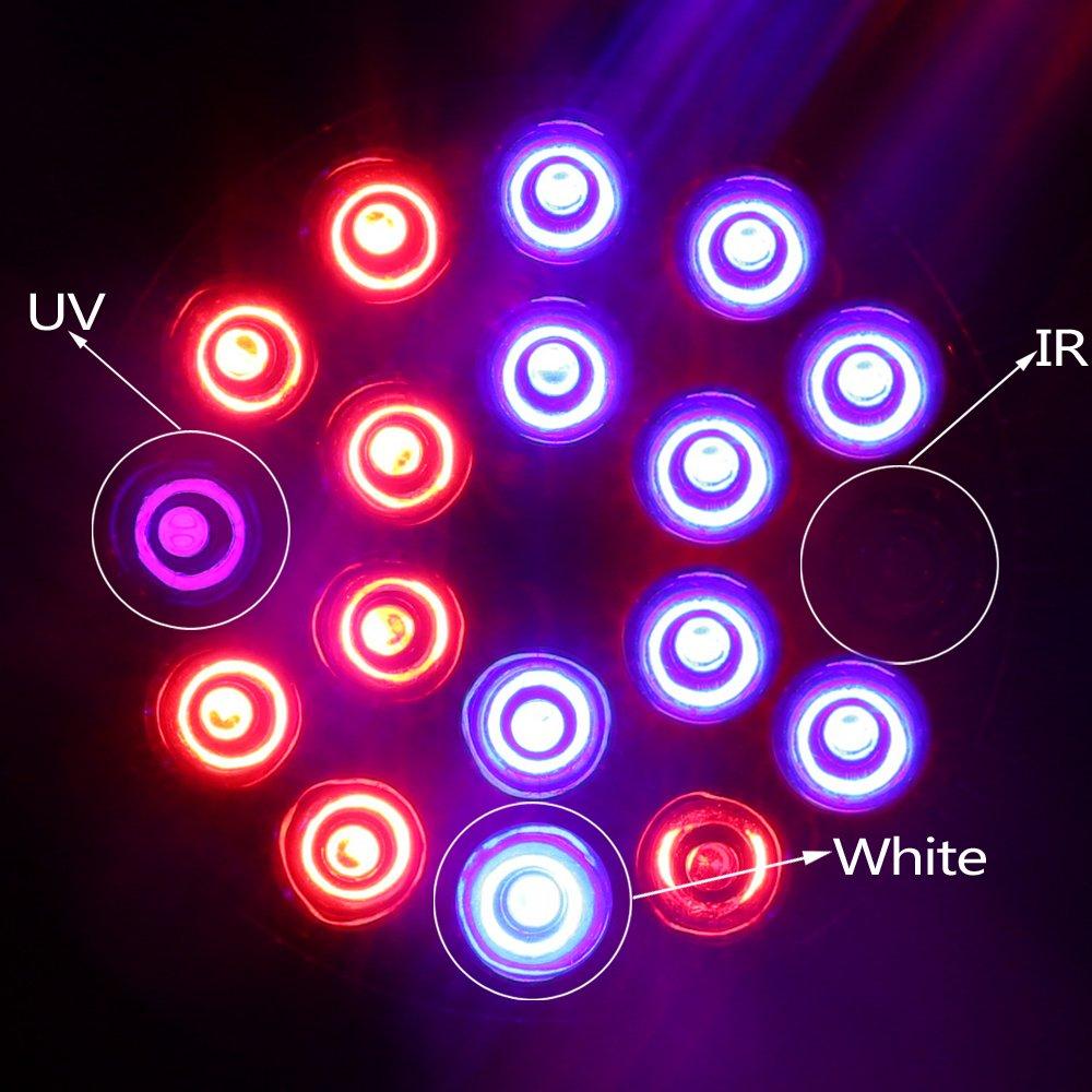 XJLED E27 hidrop/ónicos reflector LED luces crecimiento de plantas crecimiento l/ámpara para invernadero de jard/ín 12 W, 3 bandas - 660 nm, 630 nm rojo y 460 nm azul