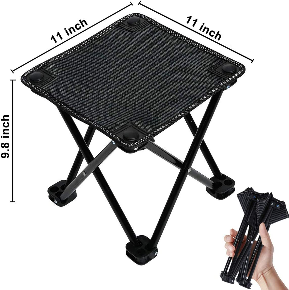Aiung Slacker Chair Folding Camping Stool Outdoor Travelchair Portable Stools Lightweight with Carry Bag, Support 220 lbs