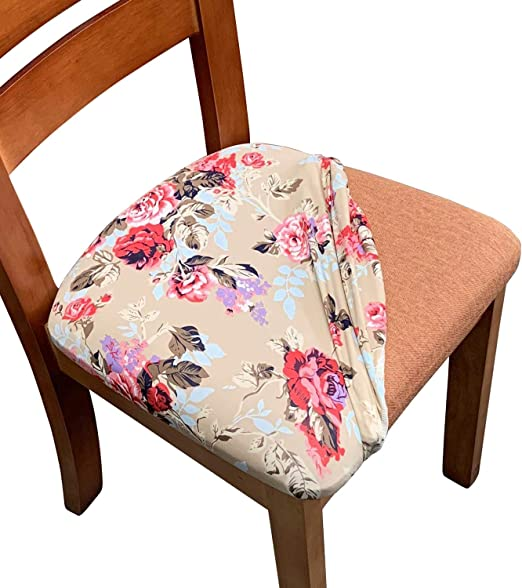 Amazon Com Melaluxe Stretch Dining Room Chair Seat Covers Removable Washable Jacquard Anti Dust Upholstered Kitchen Chair Seat Cushion Slipcovers Burgundy Pack Of 2 Home Kitchen