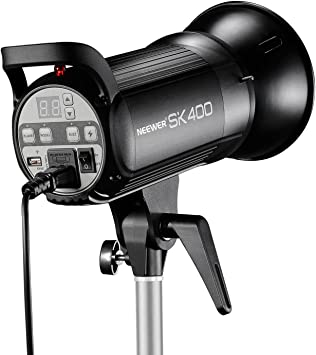 Neewer Professional Studio Flash Strobe Light Monolight Aluminum Alloy Construction for Indoor Studio Location Model Photography and Portrait Photography 400W GN.60 5600K with Modeling Lamp S400N