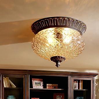 OOFAY LIGHT Ananas Lampe Retro Vintage Deckenleuchte Runde Design  Deckenlampe Ländlichen Pastorale Stil Decke Licht Für