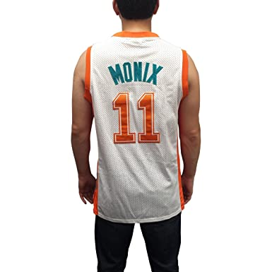 6478836ba38 Image Unavailable. Image not available for. Color  Ed Monix  11 Flint  Tropics White Basketball Jersey Semi Pro Costume Movie