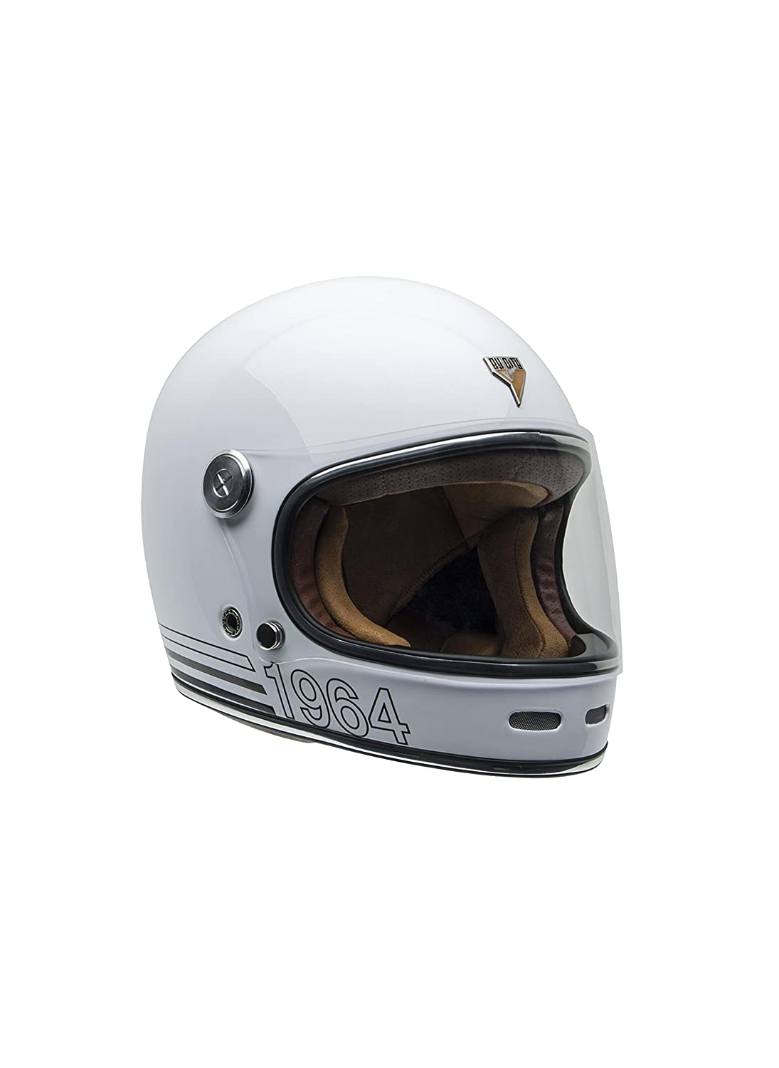 BYCITY Casque Int/égral Roadster Blanc Vintage Taille XL