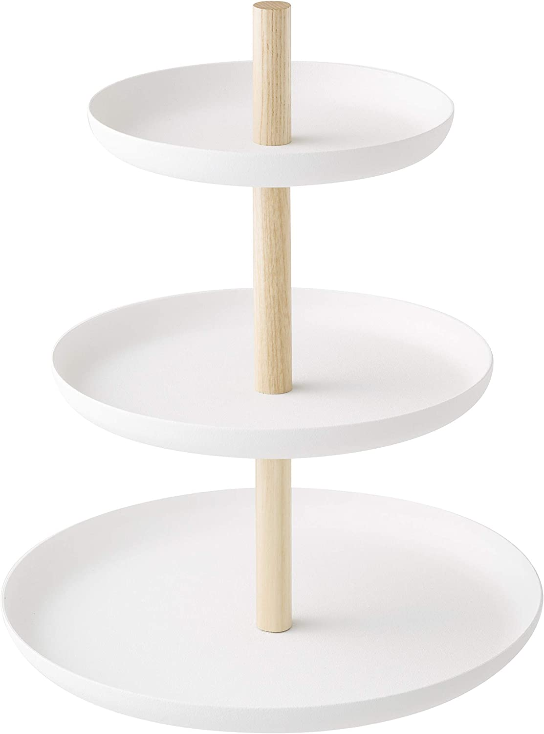Yamazaki Home Tosca 3-Tier Food Serving Stand – Appetizer & Dessert Tray Party Organizer