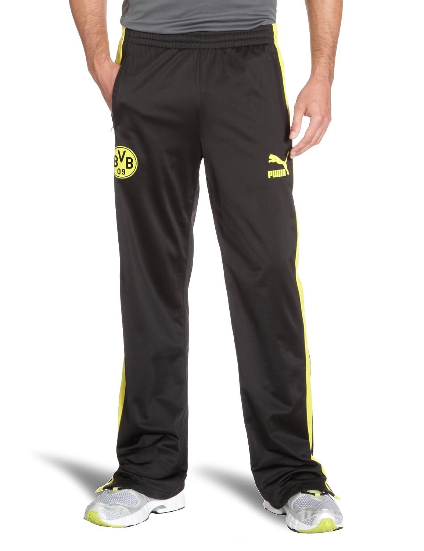 Puma Herren Hose BVB T7 Track Pants black-blazing yellow S 741917 01