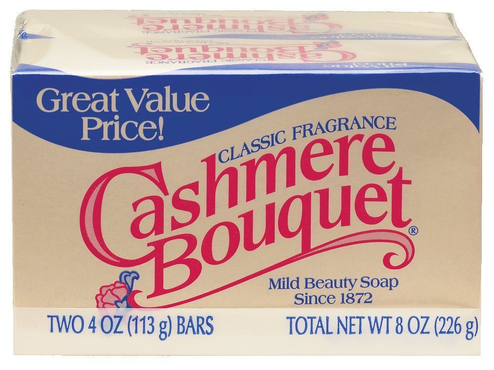 Cashmere Bouquet Bath Bar Soap Mild Beauty, Classic Fragrance, 4 Oz, 2 Count, (Pack of 6) 12 Bars Total
