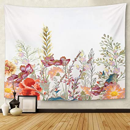 pink kitchen decorating ideas.htm amazon com tompop tapestry watercolor pattern floral field  amazon com tompop tapestry watercolor