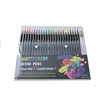 Marcadores Punta Pincel Marcadores Pluma de Acuarela 24 Colores Pluma de Agua para Niños y Adultos Colorear