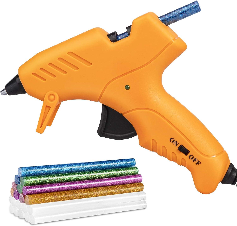 Mini Hot Glue Gun, Hot Glue Gun for Kids 20W High Temperature Mini Size Hot Melt Glue Gun Kit with 18 pcs Glue Sticks for Packaging, Quick Home Repair, DIY & Crafts and Festival Decorations