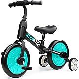 Fascol 3 en 1 Bicicleta de Equilibrio para 1-6 Años Niños, Triciclo para Bebes con Pedales Desmontables y Ruedas…