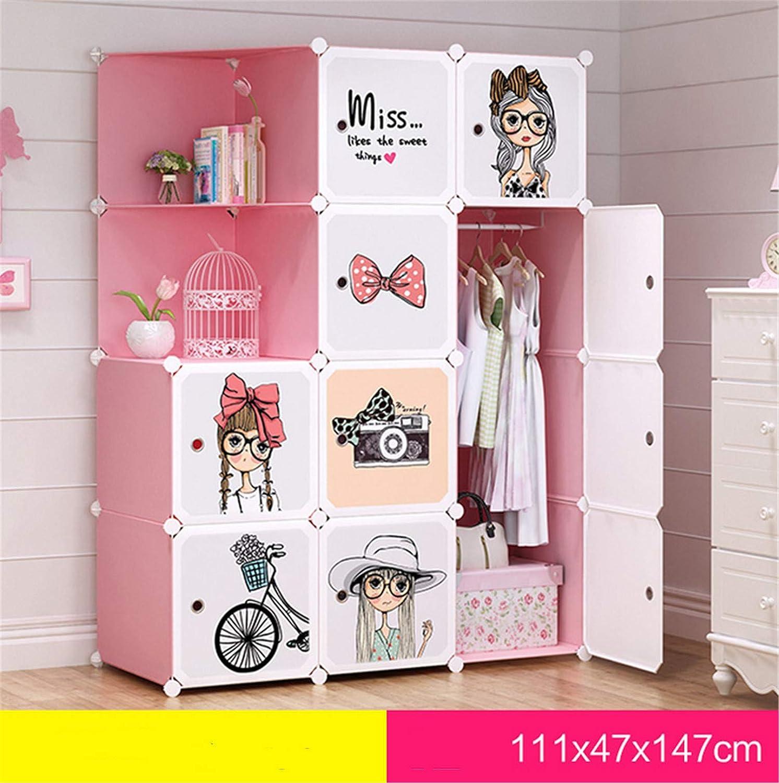 ensamblaje Simple Bricolaje A multifunci/ón gabinete port/átil Moderno gabinete de Almacenamiento de Dibujos Animados para beb/és UNIQUE-F Armario para ni/ños
