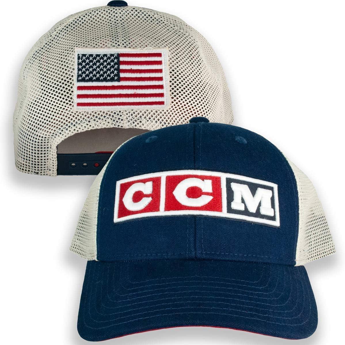 CCM アメリカ国旗 ネイビートラッカーハット