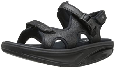 53b5815bb1de MBT Shoes Women s Kisumu 3S Leather Sandal  Sandal Black 5 Medium (B)
