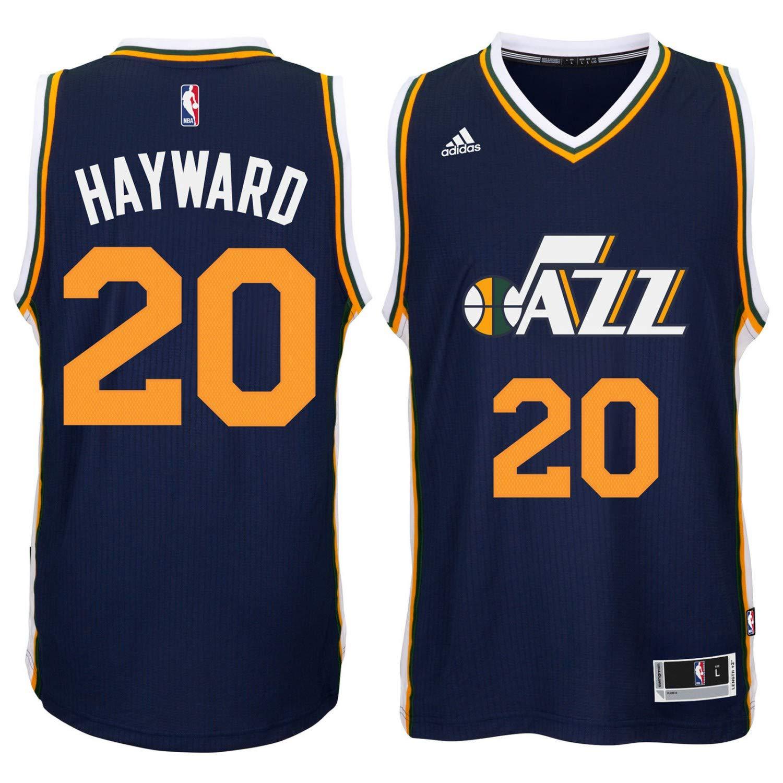 brand new 1ea59 d3196 Gordon Hayward Utah Jazz #20 Navy Blue Youth Road Replica Jersey